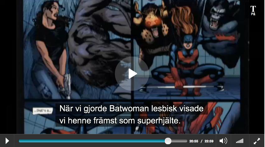 Batwoman på bilden gjordes lesbisk